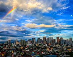 Philippine Makati   . Can you spot the moon? . Sun moon sky clouds rain and rainbow all at the same time. . December 1 2017 . . . . . .  #travel #awesome #fun #instadaily #summer #cute #cool #clouds #high #instalike #bestoftheday #blue #me #nature #sunset #happiness #holiday #sky #beautiful #instagood #photooftheday #picoftheday #photography #instatravel #travelgram #igers #tbt #moon #colorful #rainbow
