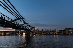 The Millennium Bridge over the River Thames. by dave_bass5, via Flickr