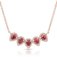 Purchase 1 Ct Pear Shape Pink Ruby & Solid Gold Crown Pendant Necklace # Free Stud Earrings from JewelryHub on OpenSky. Share and compare all Jewelry. Ruby Necklace, Ruby Jewelry, Rose Gold Jewelry, Stud Earrings, Jewelry Necklaces, Diamond Jewellery, Pendant Necklace, Layering Necklaces, Layered Necklace