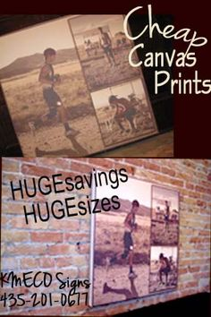 CANVAS SPECIAL all February!!! Email signzbykmeco@gmail.com or call/text 435-201-0677 for your custom print!