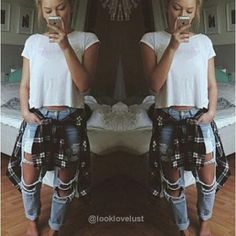 Sexy Ripped Boyfriend Jeans - Jeans - Look Love Lust https://www.looklovelust.com/products/sexy-ripped-boyfriend-jeans