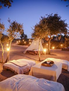 Sleeping and dining under the stars in the Portugal countryside