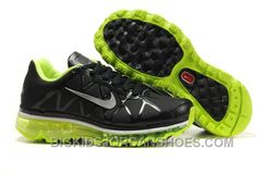 8f56a3c408fd1 Nike Air Max 2011 Kids Black Leather Green Silver Online