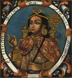Atahualpa, Fourteenth Inca, 1 of 14 Portraits of Inca Kings  Published mid 18th century
