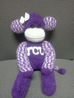 Texas Christian University TCU Horned Frogs Sock Monkey