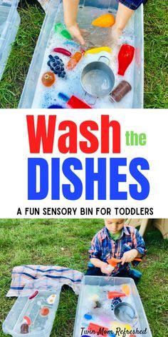 Toddler Sensory Bins, Preschool Learning Activities, Toddler Play, Infant Activities, Toddler Preschool, Kids Learning, Outdoor Toddler Activities, Sensory Tubs, Sensory Boxes