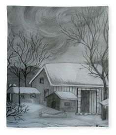 Winter Scene Acrylic Print by Faye Anastasopoulou. All acrylic prints are professionally printed, packaged, and shipped within 3 - 4 business days and delivered ready-to-hang on your wall. Choose from multiple sizes and mounting options. Canvas Home, Canvas Art, Canvas Prints, Art Prints, Diy Canvas, Easy Drawings, Pencil Drawings, Pencil Sketching, Pencil Art