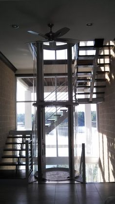 The Visilift glass elevator is a beautiful architectural addition to a home. Like a window, the glass elevator enhances the elements of the home, it does not distract from them. Milton House, Elevator Design, Glass Elevator, House Elevation, Staircase Design, Contemporary, Modern, Home Goods, Design Inspiration