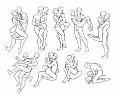 Image result for two people hugging art reference