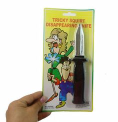 Disappearing Dagger Retractable Tricky Plastic Knife Prop Trick Funny Toys Prank | eBay