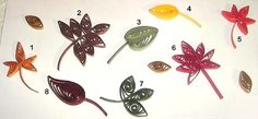 quilled fall leaves | These quilled fall leaves can be used in a variety of projects.