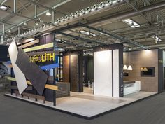 This is the new Stand of Neolith which premiered yesterday at the Marmomacc fair where it shows the versatility of their pieces for numerous applications (walls, flooring, cladding, countertops, bathrooms and furniture). In Verona from 25 to 28 September in Hall 10 - Stand G6. — en Marmomacc.