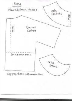molde de camisa para boneco de pano - Pesquisa Google