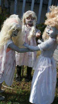 Dollar store dolls plus holloween makeup!! Lol