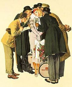 """Hollywood""    Norman Rockwell"
