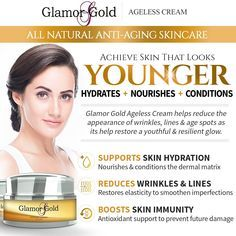 Glamor Gold Ageless Cream AntiAging Skincare for Fine Lines and Wrinkles Collag… Ageless Cream, Look Younger, Anti Aging Skin Care, Collagen, Conditioner, Skincare, Image Link, Note, Amazon
