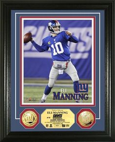 AAA Sports Memorabilia LLC - New York Giants Eli Manning Gold Coin Photo Mint, #EliManning #Manning #NYGiants #NewYorkGiants #NFL #sportscollectibles $99.99 (http://www.aaasportsmemorabilia.com/nfl/new-york-giants-eli-manning-gold-coin-photo-mint/)