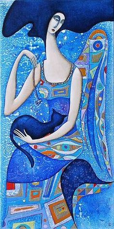 """How wonderful it is that nobody need wait a single moment before starting to improve the world."" ― Anne Frank .... art by Wlad Safronov"