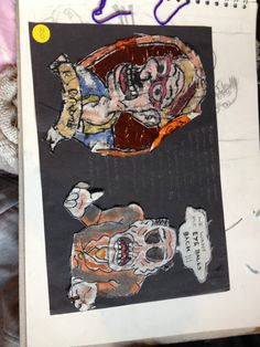Some mono prints I did of Robert crumbs work