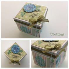 """(Scrapbooking) Explosion box """"Flower decoration"""" - """"Decorazione floreale"""" http://viviandscrap.blogspot.ch/2018/04/explosion-box-decorazione-floreale.html FB-> @viviandscrap Instagram -> viviandscrap"""