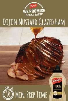 We promise only the best recipes, from our family to yours. Try this holiday favorite, the Dijon Mustard Glazed Ham. (Whats Your Favorite Holiday) Ham Recipes, Easter Recipes, Holiday Recipes, Dinner Recipes, Cooking Recipes, Recipies, Pork Ham, Good Food, Yummy Food