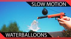 Waterballoon Destruction in Slow Motion A Day In Life, Days Out, Streamers, Destruction, Crushes, Videos, Paper Streamers, Garlands