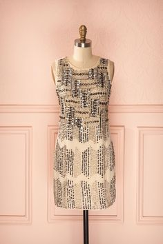 Armal - Embellished blush dress