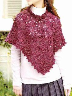 Poncho de crochet-shawls.blogspot.com