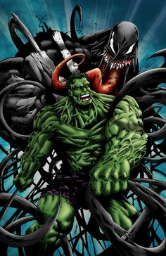 #Hulk #Fan #Art. (Hulk vs Venom) By: Mike-Montalvo.