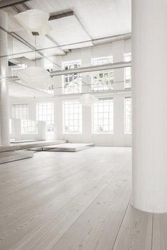 Clean and white studio
