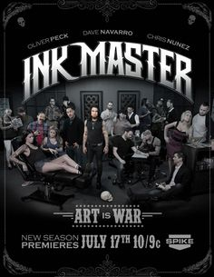 ☺TV Show•GiF☺ Ink Master Ink Master, Chris Nunez, Dave Navarro, Season Premiere, Marvel, Tattoo Machine, Concert, Movie Posters, Tv
