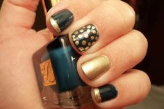 Estee Lauder - Black Turquoise with ORLY Luxe