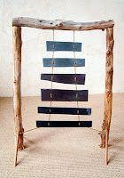 vertical slate marimba