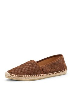 GG Suede Slip-On, Almond by Gucci at Neiman Marcus.
