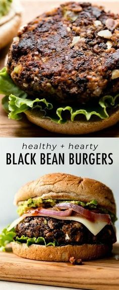 The BEST black bean burgers, grilled or baked! Meat lovers went crazy for these veggie burgers. Lots of flavor with a sturdy, meaty texture. Grill or bake the black bean burgers! Recipe on sallysbakingaddic. Healthy Recipes, Veggie Recipes, Whole Food Recipes, Vegetarian Recipes, Healthy Black Bean Recipes, Vegan Bean Recipes, Vege Burgers, Homemade Veggie Burgers, Best Veggie Burger