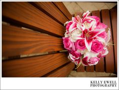 Pink lilies bridal bouquet from a summer wedding at Lost Creek Winery in Leesburg, Virginia | Kelly Ewell Photography | Leesburg VA Wedding Photographer