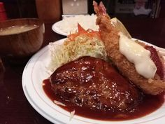 BARE HAMBURGER at Kuramae. These dishes remind me of my mother's cooking.  It's really yummy. $10.00 http://alike.jp/restaurant/target_top/403770/