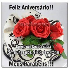 Feliz Aniversário!! Desejo que Deus te cubra com muita saúde, felicidade e vitórias - ツ Imagens, Animações e Mensagens de Feliz Aniversário ツ