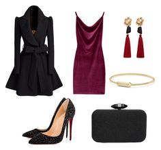 """Untitled #6"" by niken-laras on Polyvore featuring Christian Louboutin, INC International Concepts, MANGO and David Yurman"