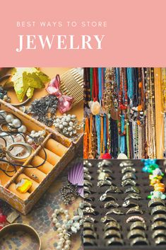 Do you know how to store jewelry to keep it from tarnishing and getting tangled? These jewelry storage ideas will answer all your questions. Jewelry Rack, Jewellery Storage, Jewellery Display, Jewelry Organization, Jewelry Findings, Tarnished Jewelry, Silver Jewelry, Accessories Display, Bag Accessories
