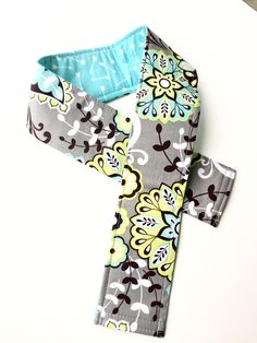 Camera Strap Cover, Neck Strap- REVERSIBLE- Padded- DSLR- Gray Yellow Flowers, Turquoise Arrows Photographer Thank You Gift $12