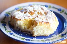 Skolebrødsnurrer | Det søte liv Pudding, Custard Pudding, Puddings, Avocado Pudding