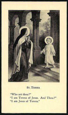Mind. Blown.  St. Teresa...wow.