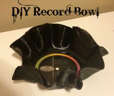 DIY Record Bowl- great gift for those tough boys/men for Christmas!