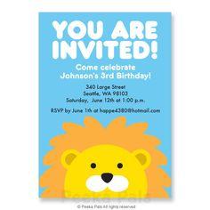 Lion birthday invitation babys 1st birthday invitation roar baby items similar to personalized printable lion birthday invitation on etsy filmwisefo