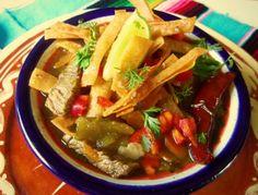 Steak Tortilla Soup HispanicKitchen.com