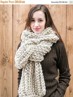 Sale Oversize Scarves in 23 colors . Wool Blanket Scarf . Chunky Scarf . THE AMELIE in 23 color options