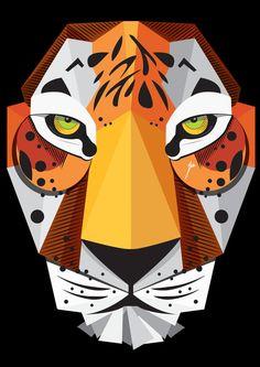 Tiger by yasmin mowafy, via Behance
