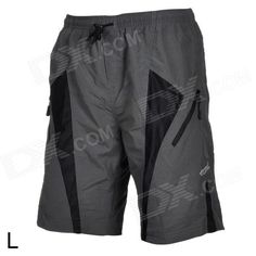Santic C05017 Outdoor Cycling Men's Breathable Anti Shock Short Pants - Black   Grey (Size L) Price: $29.20