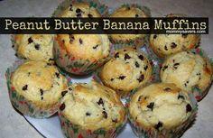 Peanut Butter Banana Muffins - I made 18 muffins just as described. Easy Sunday breakfast with stuff I had on hand